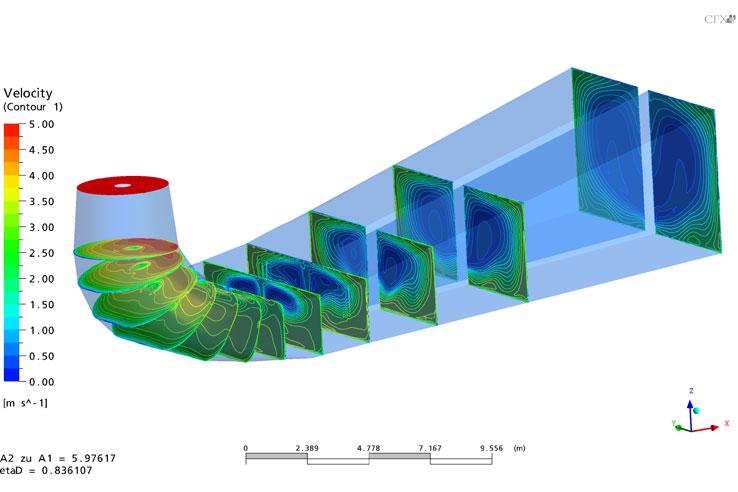 Francis turbine draft tube